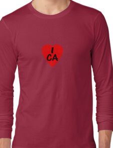 I Love Canada - Country Code CA T-Shirt & Sticker Long Sleeve T-Shirt
