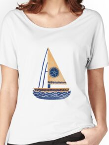 The Tribal Sailboat Women's Relaxed Fit T-Shirt