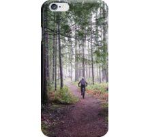 Mountain Biker in the Fog iPhone Case/Skin