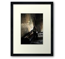 Edge of Her Coffin Framed Print