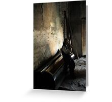 Edge of Her Coffin Greeting Card