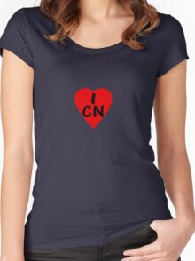 I Love China - Country Code CN T-Shirt & Sticker Women's Fitted Scoop T-Shirt