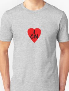I Love China - Country Code CN T-Shirt & Sticker T-Shirt
