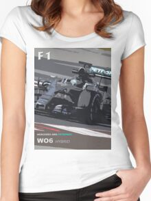 MERCEDES AMG PETRONAS Women's Fitted Scoop T-Shirt