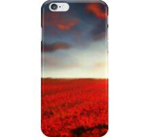 Speedpaint landscape: Flower Field iPhone Case/Skin