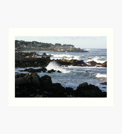 Pacific Grove and Beach Art Print