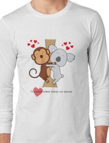 Koala-Monkey Love Long Sleeve T-Shirt