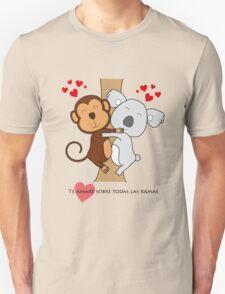 Koala-Monkey Love Unisex T-Shirt