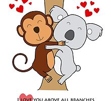 Koala-Monkey Love by tmmdesigner
