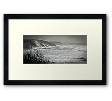 Another Storm coming to Cornwall Framed Print