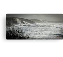 Another Storm coming to Cornwall Canvas Print