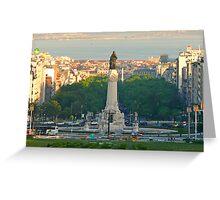 LISBON. Praça Marquês de Pombal Greeting Card