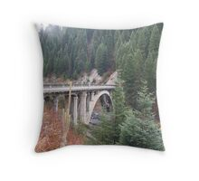 """""""Bridge Over the Payette River"""" Throw Pillow"""