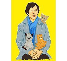 Sherlock and kittens Photographic Print