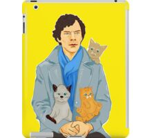 Sherlock and kittens iPad Case/Skin