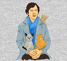 Sherlock and kittens Mens V-Neck T-Shirt