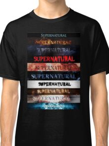Supernatural intro seasons 1-10 Classic T-Shirt