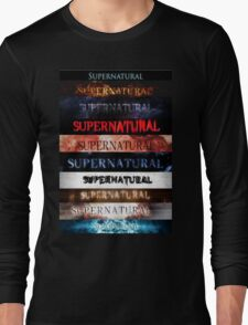 Supernatural intro seasons 1-10 Long Sleeve T-Shirt