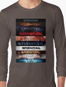 Supernatural intro seasons 1-10 Long Sleeve T-Shirt