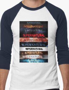 Supernatural intro seasons 1-10 Men's Baseball ¾ T-Shirt