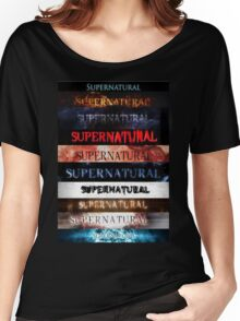 Supernatural intro seasons 1-10 Women's Relaxed Fit T-Shirt