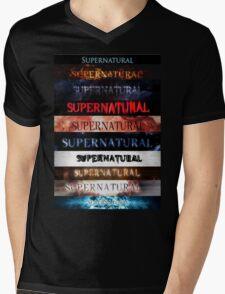 Supernatural intro seasons 1-10 Mens V-Neck T-Shirt