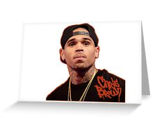 Chris Brown Greeting Card