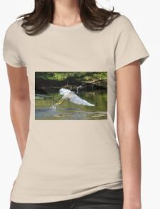 LOUISIANA HERON IN FLIGHT Womens Fitted T-Shirt