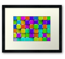 Colorful mosaic Framed Print