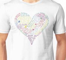 Quote heart Unisex T-Shirt