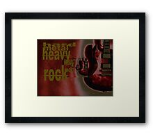 hard metal heavy rock Framed Print