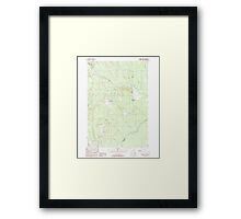 Maine USGS Historical Map North Amity 102820 1989 24000 Framed Print
