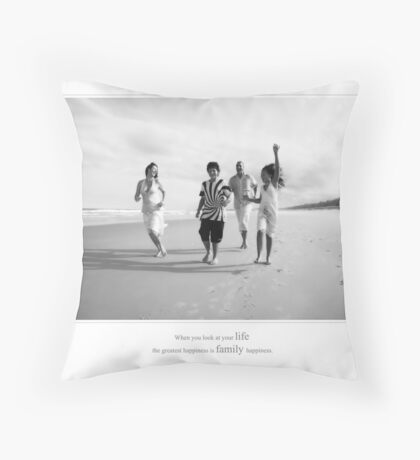 Family Happiness Throw Pillow