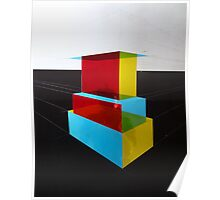 Bauhaus Primary Coloured Architectural Design  Poster
