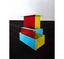 Bauhaus Primary Coloured Architectural Design  Photographic Print