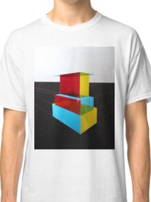 Bauhaus Primary Coloured Architectural Design  Classic T-Shirt