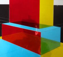Bauhaus Primary Coloured Architectural Design  Sticker