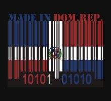 Dominican Republic Barcode Flag Made In... by Netsrotj