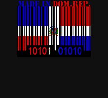 Dominican Republic Barcode Flag Made In... Unisex T-Shirt