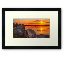 Evening Beauty Framed Print