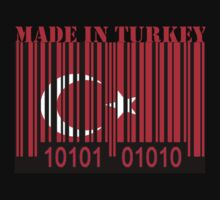 Turkey Barcode Flag Made In... by Netsrotj
