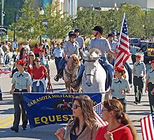 Sarasota Military Academy Equestrian Team Marches  by Memaa