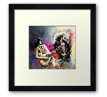 Jimmy Page and Robert Plant Framed Print