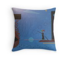 Clown On A Wire Throw Pillow