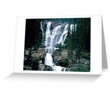 Rocky Mountain Waterfall Greeting Card