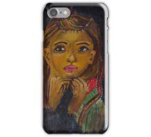 a beautiful sad girl iPhone Case/Skin
