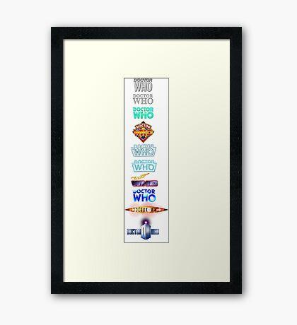 Doctor Who Logos Framed Print