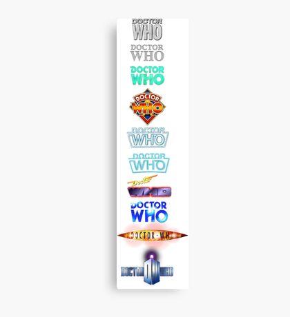 Doctor Who Logos Canvas Print