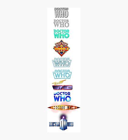 Doctor Who Logos Photographic Print