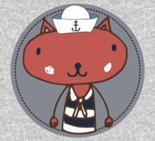 Nautical Adventures: Sailor Cat Kids Tee